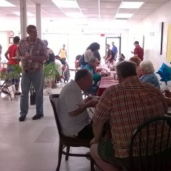 People Eating in New Day Ministry